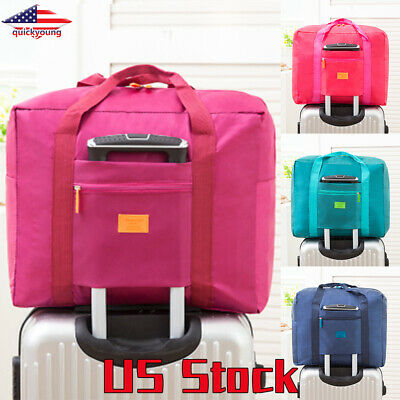 Carry-On Duffle Bag Luggage Storage Bags Waterpoof Foldable Baggage Travel US