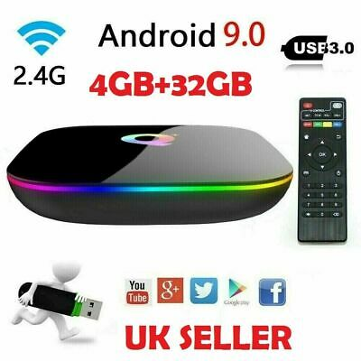 2019 Android 9.0 Smart TV Box Q-BOX Q+ Q Plus Amlogic Quad Core 2GB+16GB WIFI 6K
