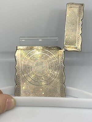 Antique .925 Sterling Silver Business Card Holder