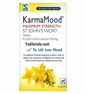 Schwabe Karma Mood 425mg 60 Tablet - Anxiety Stress Relief Low Mood Max Strength