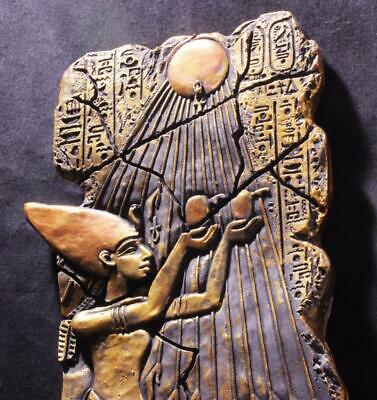 STEPPING INTO THE LIGHT Akhenaten at Worship Egyptian New Kingdom 1350 BC