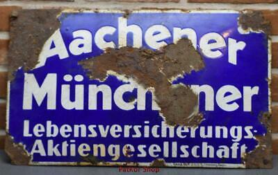 Antique German Metal Enamel Sign /4657