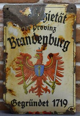 Antique German Metal Enamel Sign /4674