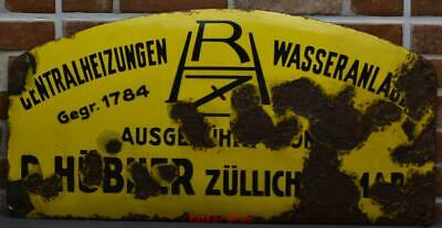 Antique German Metal Enamel Sign /4676