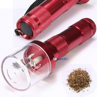 Electric Allloy Metal Grinder Crusher Crank Tobacco Smoke Spice Herb Muller C DA