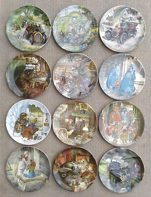 WEDGWOOD - WIND IN THE WILLOWS by ERIC KINCAID - COMPLETE SET OF 12 PLATES.