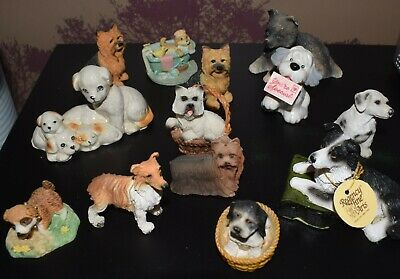 13 Small but Cute Dog & Puppy Ornaments - Westie, Terrier, Yorkie, Collie etc