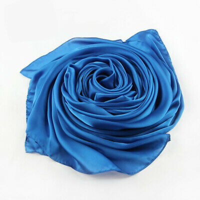 New Fashion Womens Girl Candy Color Long Soft Silk Scarf Wrap Shawl Scarves Gift