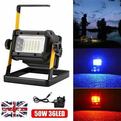 50W Portable Rechargeable RGB LED Floodlight Flood Light Spot Work Camping Lamp