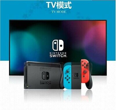 Brand New Sealed Nintendo Switch 32GB Gray Console with Neon Red and Neon