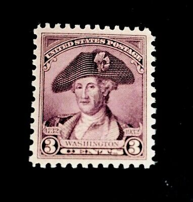 US Stamps, Scott #708 3c Washington Bicentennial Issue of 1932.  VF/XF+ M/NH.