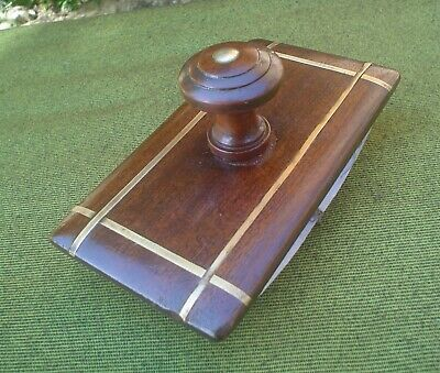 Quality Vintage French Mahogany & Brass Inlaid Rocking Blotter~Weddings~Desk Top