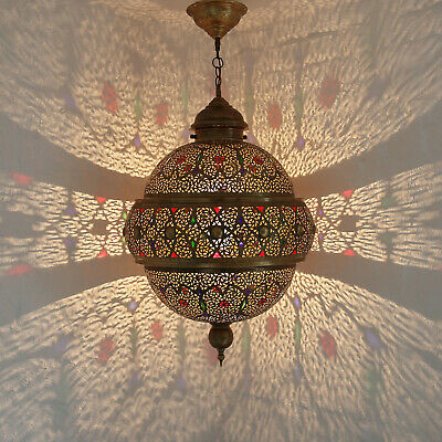 Moroccan Hanging Light Made of Brass Liminia D48cm