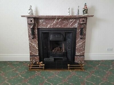 Antique VICTORIAN Rouge Marble FIREPLACE SURROUND Removed and Ready to Collect
