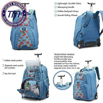 High Sierra Freewheel Wheeled Laptop Backpack, 15-Inch Student Laptop Backpack F