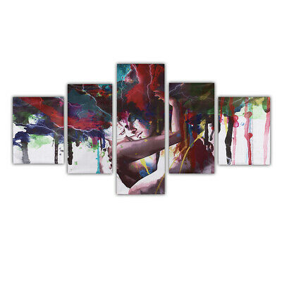 5Pc Abstract Couple Canvas Print Paintings Pictures Home Wall Art Decor Unframed