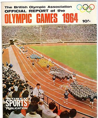 The British Olympic Association Official Report Of The Games 1964 XVIIIthOlympia