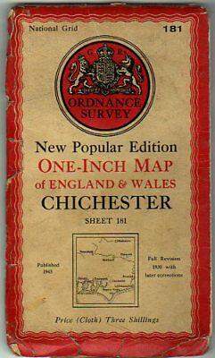 Ordnance Survey  New Popular Editon One-Inch Map of England & Wales Sheet 181 Ch