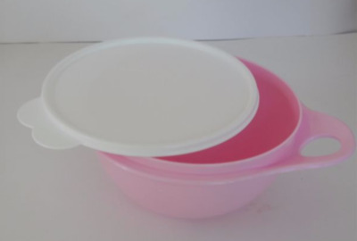 Tupperware 6 cup Thatsa Mixing Bowl Blue & White Seal for storage Conf. Pink New