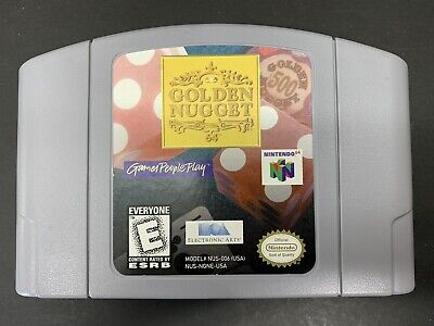 Golden Nugget Nintendo 64 N64 Authentic Cartridge- Tested Works