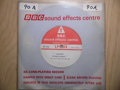 """BBC Sound Effects 7"""" Record - Laughter, 50 People at a Cabaret, Hearty, Sniggers"""
