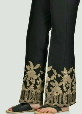 Limelight Large Embroidered Cotton Bell Trouser. UK STOCK