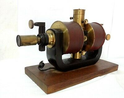 Antique 1910 S´ Paris Electromagnetic Biopotential Amplifier Electrocardiograph