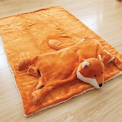 Newborn Blanket Cartoon animal fox pillow polyester Child quilt Sleeping gift