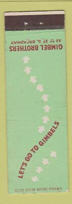 Matchbook Cover - Gimbel Brothers New York City Department Store
