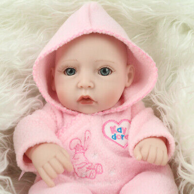 """10""""Reborn Baby Doll Full Body Silicone Anatomically Girl Kids Toy Gifts Handmade"""