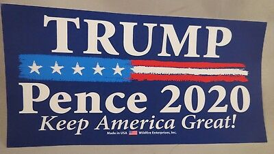 WHOLESALE LOT OF 20 TRUMP PENCE 2020 KEEP AMERICA GREAT CAMPAIGN STICKER Reelect