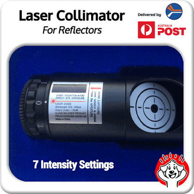 "Red Laser Collimator for Telescope Alignment 1.25'' w/ 2"" Adaptor - Adj. Bright"