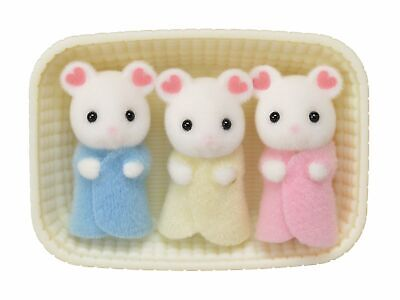 Sylvanian Families Marshmallow mouse triplets baby Calico Critters #027