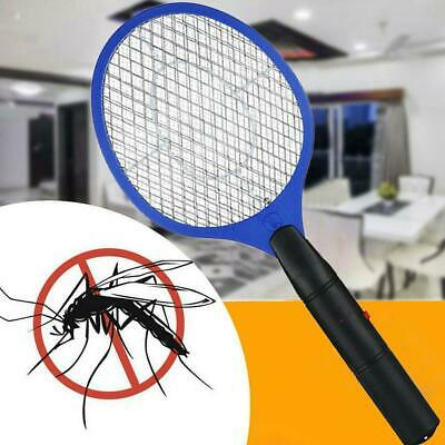 Three Layer Safe Net Electric Held Bug Zapper Insect Fly Racket Mosquito Swatter