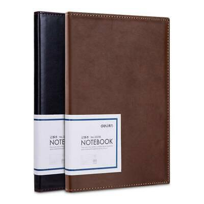 A5 Hardcover Grid Agenda Notebook with Pen Loop - Premium Thick Paper Brown New