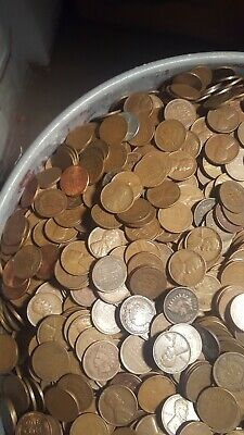 1859 To 1958 D A Nice Mix Of Teens to 50/'s Two rolls of wheat penny/'s