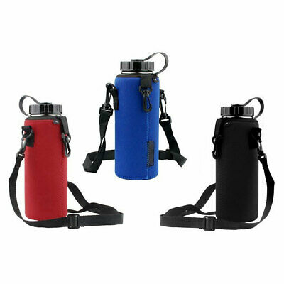 1x750ML Sports Water Bottle Bag Case Pouch Carrier Cover Adjustable Strap Buckle