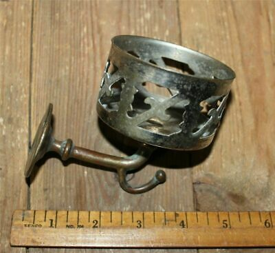 Antique Bathroom Ornate Cup Glass Holder Nickel Finish