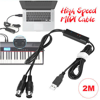 Keyboard to PC Adapter MIDI 5-Pin to USB Music Recording Converter Interface