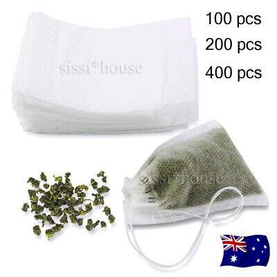 100/400x Empty Teabags String Heat Seal Filter Paper Herb Loose Tea Bags Teabag