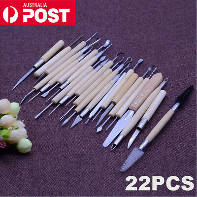 22 pcs Clay Sculpting Pottery Carving Tool Set Shaper Modelling Sculpture Knife