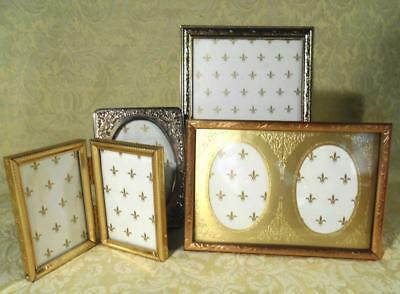 """4 Vintage Small Picture, Photo Frames 2""""X3"""" - 5""""X7"""""""