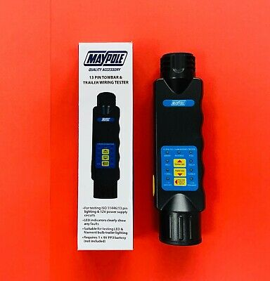 MAYPOLE 12V 13 Pin Euro Car Van Towbar and Trailer Wiring Lights Tester MP1802B