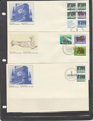 Canada FDC's 1989,Year Set ( 18 Covers )