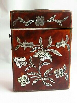 Antique mother of pearl inlay card case