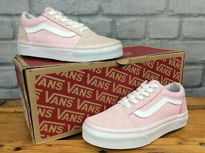 Vans Old Skool Pink White Trainers Various Sizes Girls Childrens  T