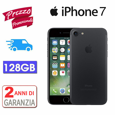 APPLE IPHONE 7 128GB Black/Nero GARANZIA 12 MESI NUOVO SIGILLATO TOP SELLER