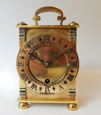 Superb  Duval Brass Case Carriage Clock Fully Working 2986