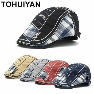 Flat Peaked Caps for Men Cotton Visor Bone Boina Gorras Planas Casquette Hats