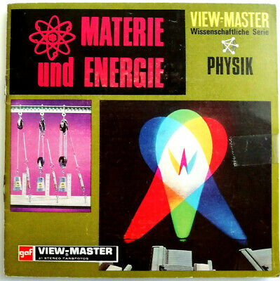 3x VIEW MASTER REEL / MATERIE und ENERGIE / + BOOKLET / SCIENCE SERIES / PHYSIK